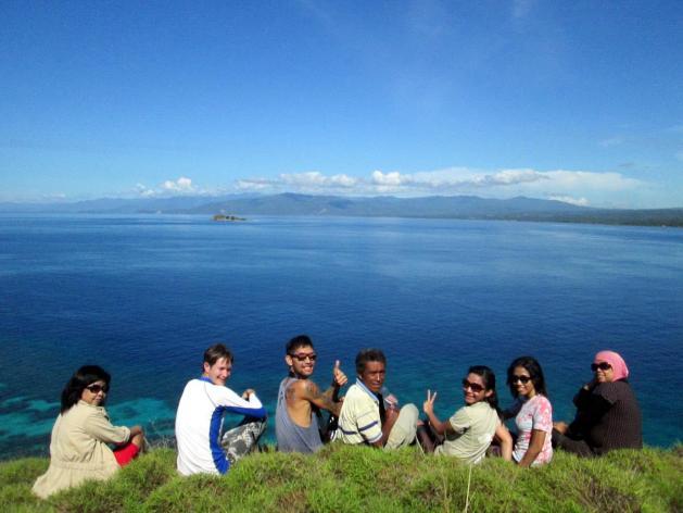 @hill of baling-baling island, tumbak, southern minahasa