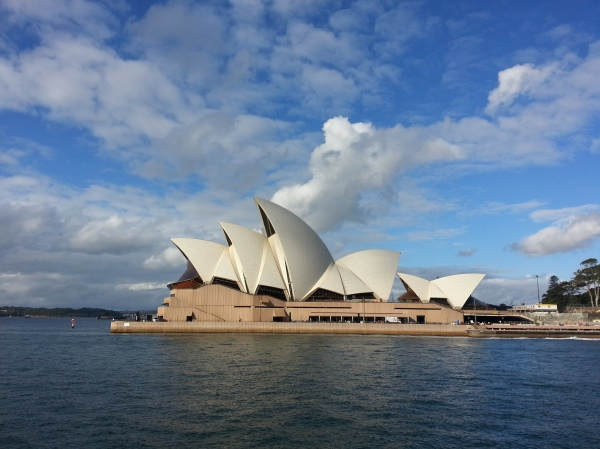 picture taken from ferry to manly island