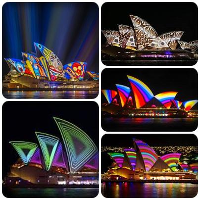 opera house bermandikan cahaya (foto: dari berbagai sumber)
