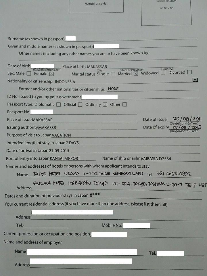 Mengurus Sendiri Visa Jepang Di Makassar Penyukajalanjalan