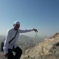 Muthawwif with zamzam tower view