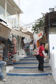 Window shopping di Fira